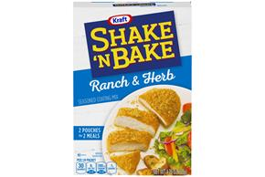 Kraft Shake 'n Bake Ranch & Herb Seasoned Coating Mix 4.75 oz. Box