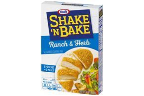 Kraft Shake 'n Bake Ranch & Herb Seasoned Coating Mix 4.75 oz. Box