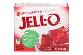 Jell-O Gelatin Strawberry 3 Oz Box