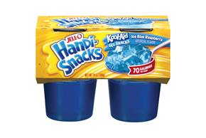 Jell-O Handi-Snacks Kool-Aid Ice Blue Raspberry Gel Snacks 4 Ct Cups