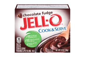 Jell-O Pudding-Cook & Serve Chocolate Fudge 3.4 Oz Box