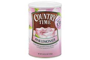 COUNTRY TIME 67.3 OZ SOFT DRINK-POWDERED  PINK LEMONADE 1 CAN EACH