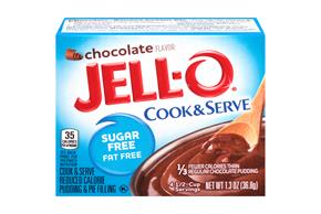 Jell-O Pudding And Pie Filling Chocolate Sugar Free Fat Free 1.3 Oz Box