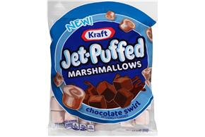 Jet-Puffed Chocolate Swirl Flavored Marshmallows 3Oz Bag