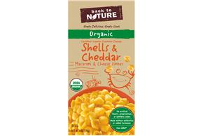 Back to Nature Organic Shells & Cheddar Macaroni & Cheese Dinner 6 oz. Box