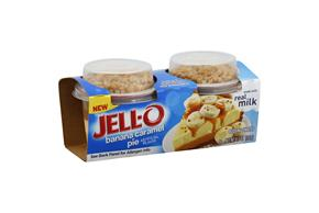 Jell-O Pudding Snacks Mix-Ins Banana Caramel Pie