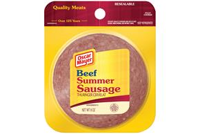 OSCAR MAYER Beef Summer Sausage 8oz Peg