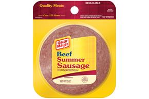 OSCAR MAYER Beef Summer Sausage 12oz Peg