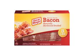 OSCAR MAYER Naturally Hardwood Smoked Bacon Club 3 Ib Box
