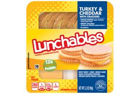 LUNCHABLES Turkey & Cheddar 3.2 OZ Tray