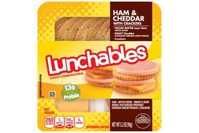 Lunchables Ham & Cheddar 3.2 Oz Tray