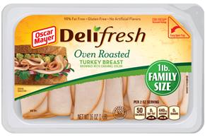 OSCAR MAYER Deli Fresh Oven Roasted Turkey Breast 16oz Tray