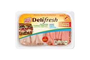 OSCAR MAYER Deli Fresh Combos Oven Roasted Turkey & Smoked Ham 9OZ Tub
