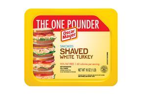 OSCAR MAYER Shaved Smoked White Turkey 16oz Tray