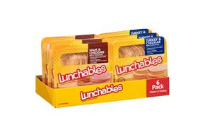 Oscar Mayer Lunchables Ham & Cheddar/Turkey & Cheddar Lunch Combinations Variety Pack 6-3.2 Oz. Tray