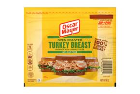 OSCAR MAYER Cold Cuts Oven Roasted Turkey Breast 8oz Pack
