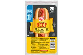 Oscar Mayer Premium Beef Franks 20 Ct Pack