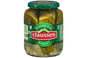 CLAUSSEN Kosher Dill Wholes Pickles 32 oz. Jar