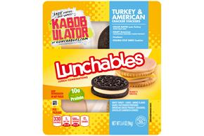 LUNCHABLES CONVENIENCE MEALS TURKEY AND AMERICAN WITH OREO COOKIE 3.4 OZ Tray