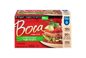 Boca Original Burgers Vegan 16 Ct Box