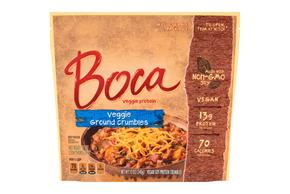 Boca Ground Crumbles Vegan Made With Nongmo Soy 12 Oz. Pouch