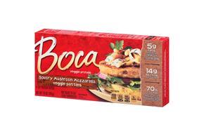 Boca Savory Mushroom Mozzarella Burgers 4 Ct Box