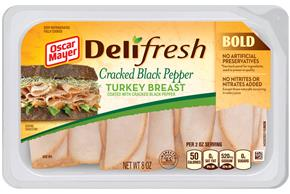 OSCAR MAYER Deli Fresh Cracked Black Pepper Turkey 8oz Tub