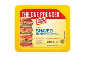 OSCAR MAYER Shaved Honey Ham 16oz Tray