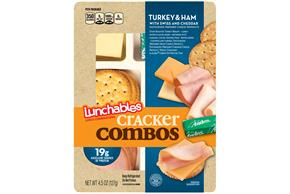 OSCAR MAYER Lunchables Convenience Meals-Single Serve Turkey and Ham 4.5 oz Tray