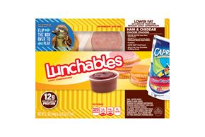LUNCHABLES CONVENIENCE MEALS-SINGLE SERVE HAM AND CHEDDAR 11.1 OZ BOX