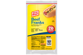 Oscar Mayer 2 Lb Franks  Beef Frank     1 Vacuum Packed Each