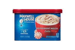 Maxwell House International Peppermint Mocha Latte 7.1 oz Canister