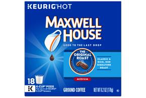 Maxwell House Original Roast Coffee K-Cup(R) Packs 18 ct Box