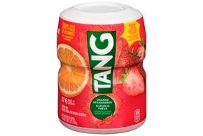 TANG POWDERED SOFT DRINK ORANGE STRAWBERRY 18 oz Cannister
