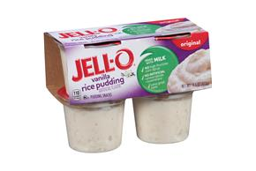 Jell-O Pudding Ready To Eat Rice 4 Ct Cups