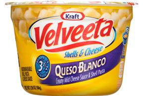 Kraft Velveeta Queso Blanco Shells & Cheese 2.39 oz. Microcup