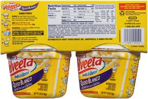 Kraft Velveeta Queso Blanco Shells & Cheese 4-2.39 oz. Microcups