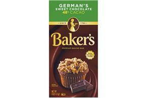Baker's German Chocolate Baking Squares 4 Oz. Box