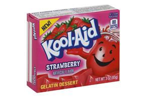 Kool-Aid Gelatin  Strawberry 3Oz Box
