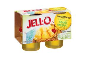 Jell-O(R) Limited Edition Island Pineapple Gelatin Snacks 4 Ct Cups