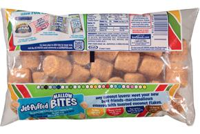 Jet-Puffed Mallow Bites Toasted Coconut Flavored Marshmallows 8Oz Bag
