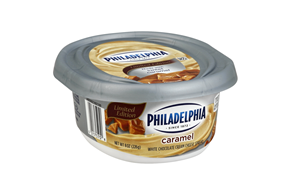 Philadelphia Limited Edition Caramel White Chocolate Cream Cheese Spread 8 Oz. Tub