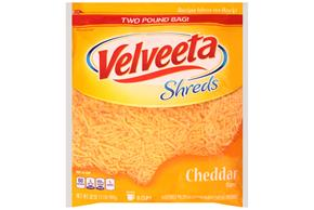 Kraft Cheddar Flavor Velveeta Shreds 32 Oz. Bag