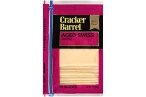 Cracker Barrel(R) Aged Swiss Cheese Slices 10 Ct Zip-Pak(R)