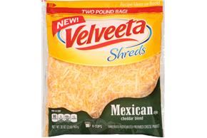 Kraft Mexican Style Cheddar Blend Velveeta Shreds 32 Oz. Bag