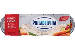 Philadelphia Variety Pack Cream Cheese  3-8 Oz Tubs