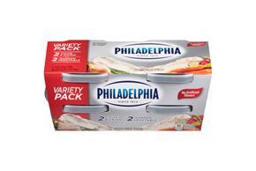 Philadelphia Chive & Onion/Garden Vegetable Cream Cheese Spread Variety Pack 4-8 Oz. Tubs