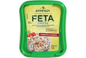 Athenos Crumbled Tomato & Basil Feta Cheese 6 Oz. Tub