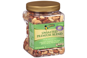 Planters Unsalted Premium Blend 34.5 oz. Canister