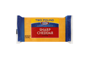 Kraft Natural Cheese Cheddar Sharp Chunk Cheese 2 Lb Brick